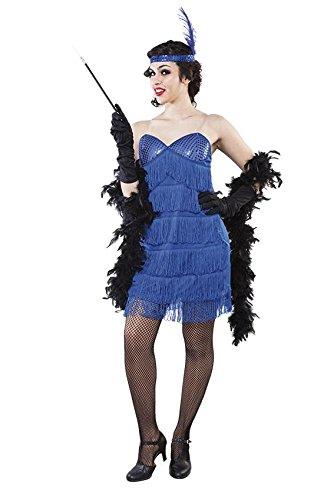 KOSTÜM - CHARLESTON - Größe 42 (L), 20er 30er Jahre Tanz Gesellschaftstanz Jazz Melodie Musik USA Broadway (Broadway Kostüm Party)