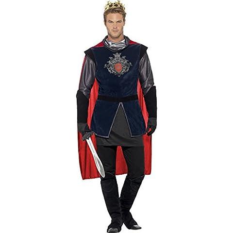 Smiffy's - Disfraz deluxe de Rey Arturo, color negro (43417L)