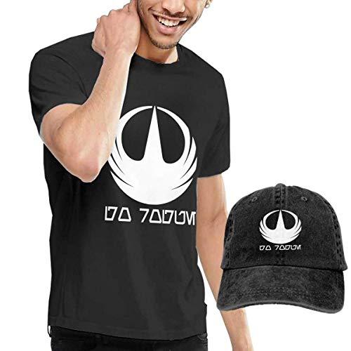 SOTTK Herren Kurzarmshirt Go Rogue Men's Short Sleeve T Shirt & Washed Adjustable Baseball Cap Hat -
