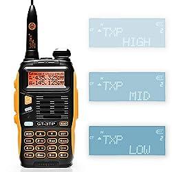BaoFeng GT-3TP Mark III Dualband Handfunkgerät UHF/VHF 2m/70cm Funkgerät Tri-Power 8W/4W/1W Walkie Talkie (GT-3TP)