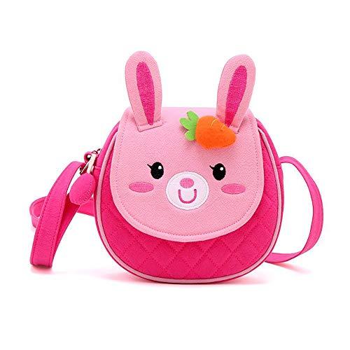 Uworth Hase Kinder Umhängetasche Kindertasche für Mädchen Schultertasche Klein Pink