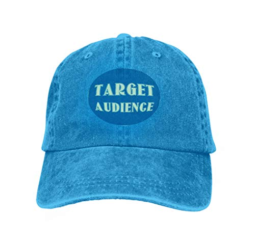 Hip Hop Baseball Cap Adjustable Flat Brim Hat Outdr Sport Baseball Hat Unisex Target Audience Business Concept Design Target Audience busi Blue