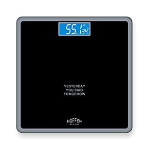Hoffen HO-18 Digital Electronic LCD Personal Body Fitness Weighing Scale (Black) Best Online Shopping Store