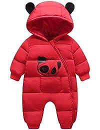 331f98358d585 Happy Cherry Doudoune Combinaison de Neige Ski Enfant Manteau Hiver Bébé  Fille Garçon Imprimé Animal Panda Mignon Barboteuse…