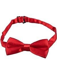 TOOGOO(R) Corbata de mono Corbata de lazo Corbata de bebe chico gato perro de peluche mascota ajustable guapo lindo Rojo