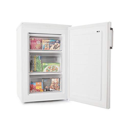 Klarstein Garfield XL Eco+ - Congélateur, 80 litres, 3 tiroirs, réglable en hauteur, 41 dB, économique, idéal pour couples et petites familles, blanc
