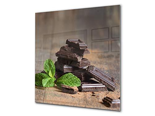 Glasrückwand mit atemberaubendem Aufdruck – Küchenwandpaneele aus gehärtetem Glas BS07 Serie Desserts: Mint Chocolate