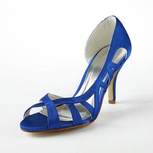 Jia Jia Wedding 83902 chaussures de mariée mariage Escarpins pour femme Bleu