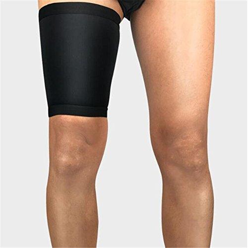 LanLan Protezione per la coscia, fascia elastica sportiva scaldamuscoli unisex di compressione per running calcio basket