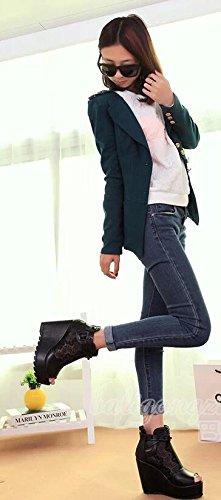 Mulheres Salto De Pretas Sandálias Gradiente De Das Alto xwAndqYqHt