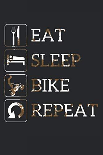 Grand Fantasy Designs - Notes: Eat Sleep Bike Repeat Crossbike Dirt - Notebook 6x9 dot grid (Dirt Bike Vi)