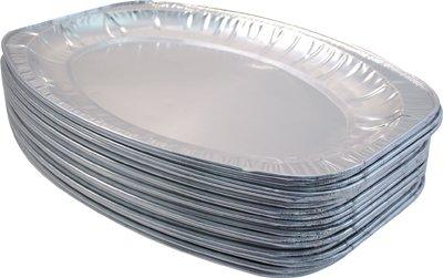 60x Folie Platte Auflaufform–44cm x 29cm Einweg Folie Catering Tablett Kostenlose