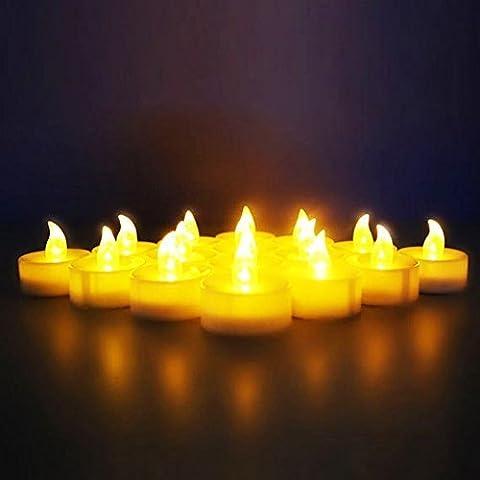 Gearmax® Un Conjunto de 24 Luces Nocturnas Batería Operado Pilas parpadeo sin llama LED de la luz del Velas
