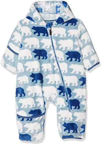 Hatley Fuzzy Fleece Baby Bundler Blouson, Bleu (Polar Bear Silhouettes), 24 Mois Bébé garçon