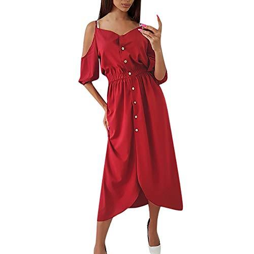Apricot Kleid Kleider Kleid Weinrot Kleider Blumen Kleid Off Shoulder Kleider Kurz Rockleid Damen...