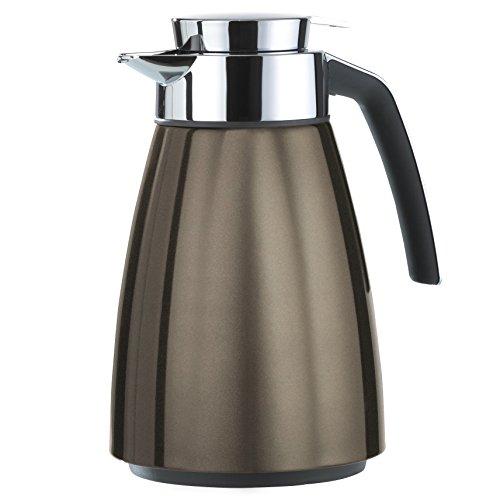 Emsa 513812 Isolierkanne, Eddelstahl 1 Liter, Aroma Diamond, Quick Tip Verschluss, Chocolate, Bell