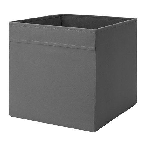 Ikea Regalfach DRÖNA Aufbewahrungsbox Regaleinsatz in 33x 38x 33cm (W x D x H) weiß, dunkelgrau, Storage