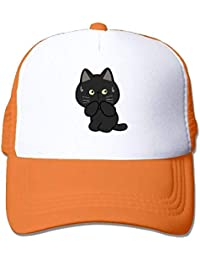 dfegyfr Black Cat Adjustable Sports Mesh Baseball Tapas Trucker Cap Sun  Hats Unisex27 38f364d3d808
