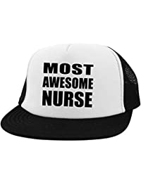 7b27411da58e3 Designsify Most Awesome Nurse - Trucker Hat Visera