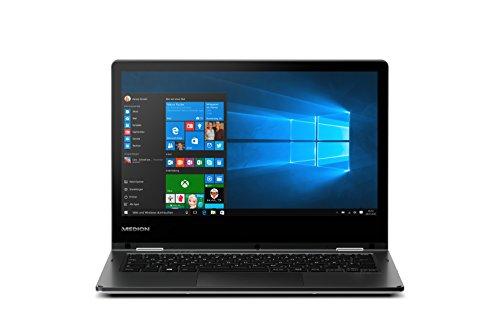 Medion E2215T MD60252 Akoya 29,5 cm (11,6 Zoll) Convertible Touch-Notebook (Intel Atom, 2 GB RAM, 64 GB Flash-Speicher, Intel HD-Grafik, Win 10 Home) schwarz