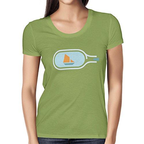 NERDO - Bottled Ship - Damen T-Shirt Kiwi
