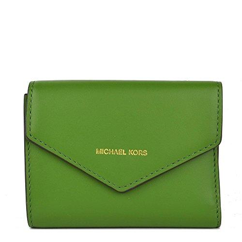 Michael Kors MICHAEL by Blakely Karte Brieftasche Leder Grun Damen one size - Frauen Brieftaschen Mk Für