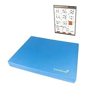 Functional Plus© Balance Pad mit professioneller Trainingsanleitung – Extra Großes Pad für zusätzliche Ganzkörperübungen und Steigerung der Fitness, des Gleichgewichts und Körpergefühls