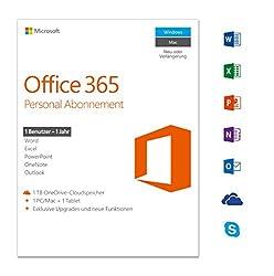 Microsoft Office 365 Personal Multilingual | 1 Gerät | 1 Jahresabonnement | Pcmac | Download