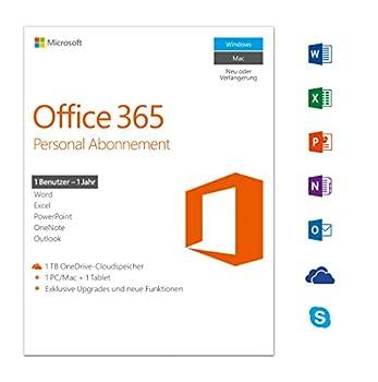 Microsoft Office 365 Personal Multilingual | 1 Gerät | 1 Jahresabonnement | Pcmac | Download 0