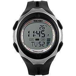 OUMOSI Unisex Digital Outdoor Sports Watch Waterproof Casual Wristwatch