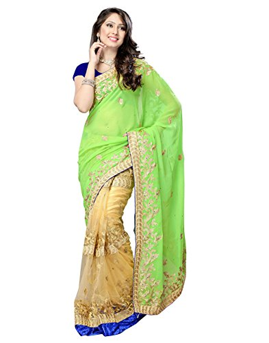 Sarees (Women's Clothing Chifon Saree For Women Latest Design Wear New Collection in Latest With Designer Blouse Free Size Beautiful Cream Saree For Women Party Wear Offer Designer Sarees With Blouse Piece)