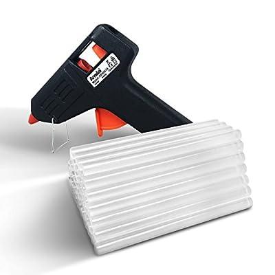 Amdai 20W Electric Glue Gun Hot Melt with Trigger PLUS 60 Glue Sticks for Hobby, Craft, Mini, Metal, Wood, Glass, Card, Fabric, Plastic, & Ceramics