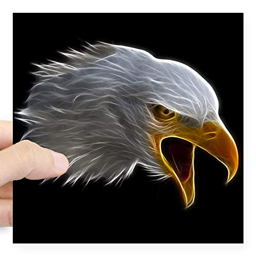 CafePress Aufkleber American Bald Eagle Head Large - 5x5 weiß -