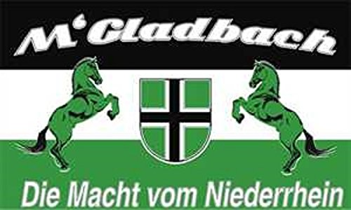 U24 Fahne Mönchengladbach Die Macht vom Niederrhein 90 x 150 cm