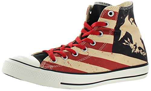 Converse 144826, Femme Sneakers Black/Fire Brick/Natural