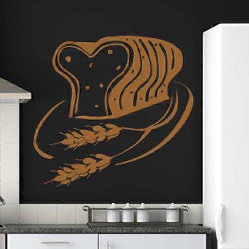 Pagnotta Di Pane Pane a fette di grano della ristorazione Wall Stickers Kitchen Art Stickers disponibile in 5 dimensioni e 25 colori Medio
