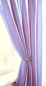 Violet lilas Rideau Panneau voile uni-Violet lilas Parme - 150 cm x 90 cm - 150 cm x 229 cm environ-elegance-Haut transparent Rideau Panneau de porte