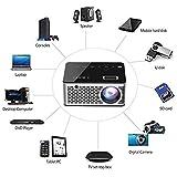 I Kall T200 TFT LCD Display WiFi Portable Projector (Black)