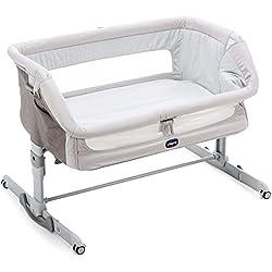 Chicco Next2Me Dream - Cuna de colecho con anclaje a cama, balancín y 11 alturas, color plateado