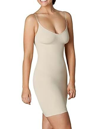 Sleex Figurformendes Miederkleid mit Traegern, Hautfarben, Groesse S/M