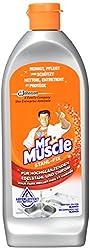 Mr Muscle Stahl-fix Edelstahl-Reiniger, für hochglänzenden Edelstahl und Chrom, mit Abperleffekt, 4er Pack (4 x 200 ml)