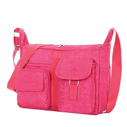 Borse Yy.f Di Marca Di Lusso Borse Casuali Pacchetto Diagonale Il Sacchetto Di Spalla Delle Signore Lavare Panno Multicolore Pink