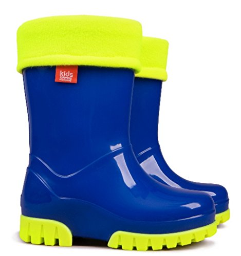 Demar Boys Girls Kids Warm Fleece Lined Wellington Boots Wellies