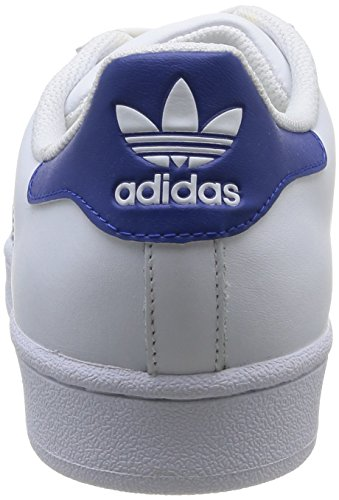 adidas Originals Unisex-Erwachsene Superstar Low-Top Weiß (Ftwr White/Collegiate Royal/Ftwr White)
