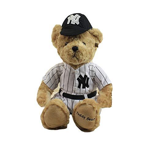 AOTE-D Bär Baseball Uniform Hut Niedlich Weich Weich Stofftier Geschenk Plüschtier (Große Niedliche Plüschtiere)