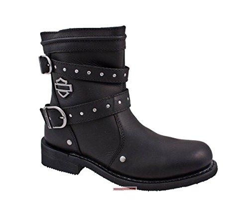 277cadaa68a Harley Davidson - Botas de piel para mujer Negro negro 39