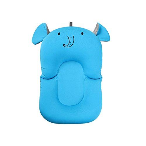 belupai Alfombrilla de baño para bebé recién nacido, plegable, para bañera, asiento de bañera y asiento de bebé(Elefante)