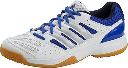 adidas Herren Hallenschuh Speedcourt 8 M weiß / silber / blau, Größe:44 -
