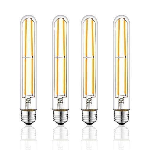 T10 Licht Birne (NOVELUX t10 / t30 led-birnen, tubular edison-art-led-glühlampe, dimmbare 6w 4 packung 2700k, 4pack)