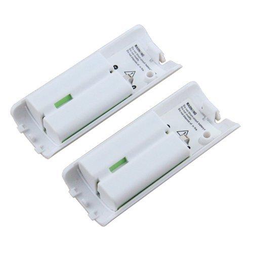 Wii Bateria Mando, OSAN 2pcs Capacidad 2800mAh Batería Recargable para Nintendo...